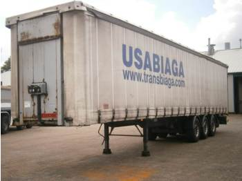 Plane Auflieger Samro Curtain box trailer 88.5 m3 / 36500 kg