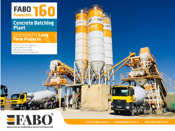 FABO POWERMIX-160 STATIONARY CONCRETE BATCHING PLANT - Betonmischanlage