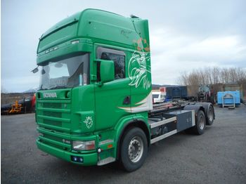 SCANIA R164 480 LB6x2HNB, full steel,retarder - Abrollkipper