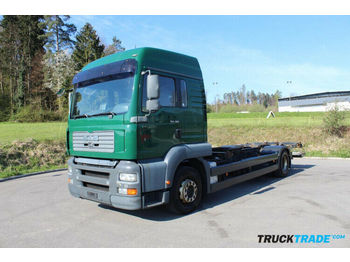 MAN 18.363F FIIW 4x2 Chassis Container BDF  - Fahrgestell LKW