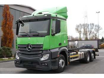 MERCEDES-BENZ ACTROS 2545 MP4 RETARDER LIFT 1500 kg E6 BDF CHASSI SMALL CABIN - Fahrgestell LKW